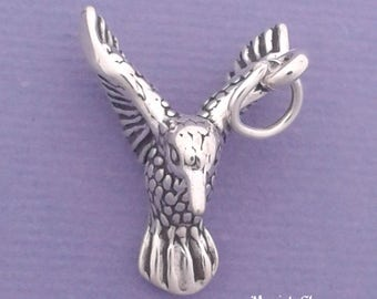 HUMMINGBIRD Charm .925 Sterling Silver Bird Pendant - lp2683