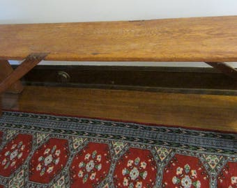 LOCAL PICKUP ONLY: Rochester, Mn/Primitive Extra Long Rustic Wooden Bench/Farmhouse Bench/Antique Wood Bench/Farmhouse Decor/Country Decor