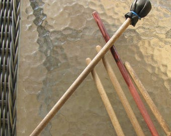 Drum Beater Simple Small Beater Native Made William Lattie Cherokee comes w/ Certificate of Authenticity FREE US SHIPPING