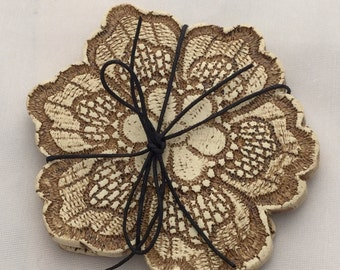 Flower Lace Coasters (Set of Two)