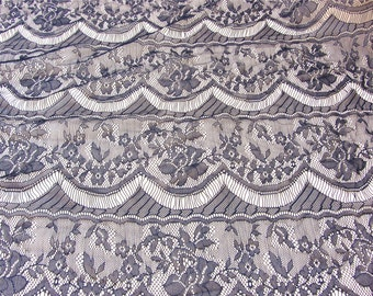 Black Eyelash Lace Fabric by the Yard or Wholesale for new year part dress ivory white lace fabric