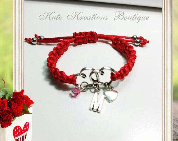Double Hearts Macrame Bracelet, Heart Bracelet, Friendship Bracelet, Adjustable Bracelet, Knotted Bracelet.