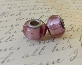 3pc Purple Glass Bead