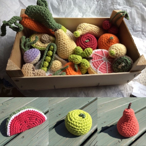 Realistic Toy Food : Realistic play food fruit or vegetable amigurumi soft toys