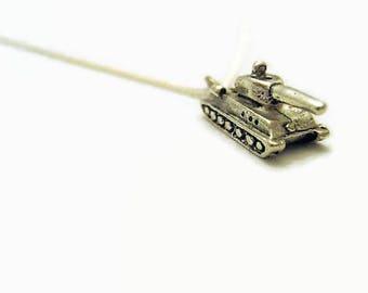 Tank Necklace Tiny Tank Necklace Tank Jewelry Military Tank Necklace Military Necklace Military Jewelry