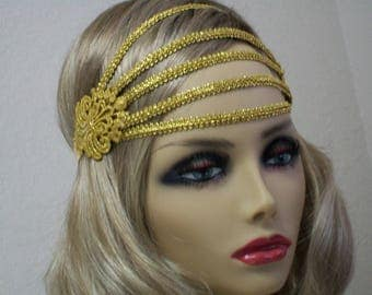 Great Gatsby headpiece, 1920s headband, Flapper headpiece, Gatsby headband, Vintage Inspired, Roaring 20s,  Art Deco, 1920s hair accessory