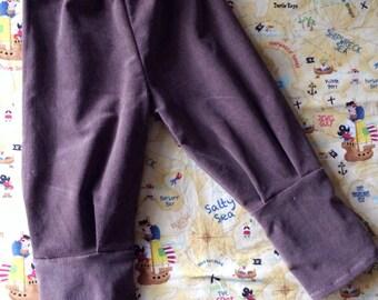 Brown corduroy baby boy/ toddler pants • Made to order
