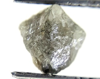 SALE Rough Silvery Diamond Conflict-Free April Birthstone 1ct 6.3 x 6.0 x 5.0 MM