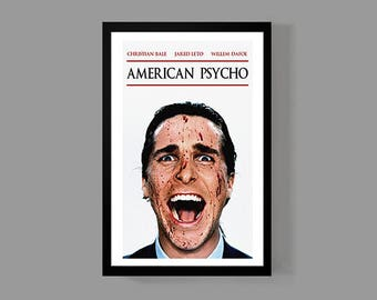 American Psycho - Patrick Bateman Poster Print - Christian Bale Movie Cult Classic Horror
