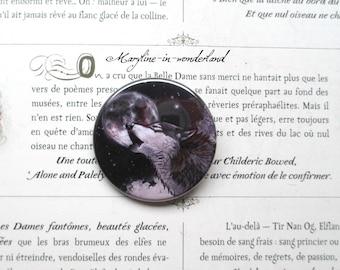 badge brooch nice Black Wolf