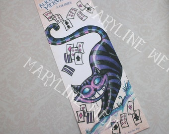"Bookmark ""Alice in the Wonderland"" the cat"