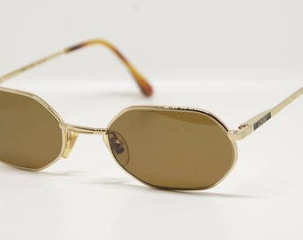 Vintage Enrico Coveri small square sunglasses mod. 390 made in Italy NOS 1990's circa