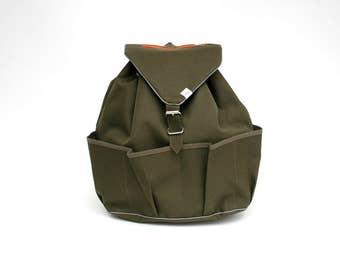 Casual Backpack | BERTA | Khaki