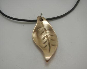 Bronze Leaf Pendant
