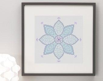 Henna Flower Cross Stitch Pattern