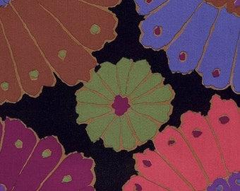 "1.75  Yard of Kaffe Fassett Carpet in Black,  Extra Wide 108"" fabric."
