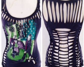 Out of Stock Green Day Weave Top