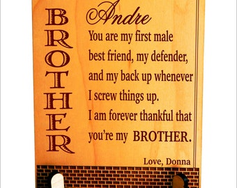 Keepsake Gift for My Big Brother, Customized Gift for Brother, Gift for My Little Brother-Sibling, Gift to Brother from Sister,  PLB018