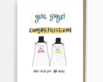 congratulations mr and mr funny card gay wedding cards