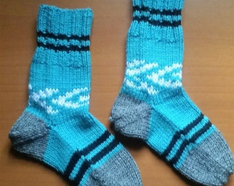 House Socks, Hand Knitted with a unique design