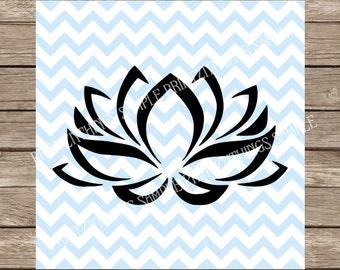 Lotus svg, Lotus, Lotus flower svg, Lotus flower, yoga svg, Yoga, india svg, fitness, fitness svg, workout svg, workout, Floral, svg file