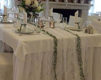 Lace Overlay - Lace Tablecloth - Wedding Table Overlay - Table Overlay - Wedding Table Decor - Rustic Wedding Decor  - Table Overlay -