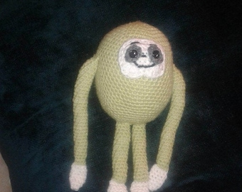 Grembly Gunk, crocheted sloth, Eugene, TWD sloth, The Walking Dead fan art,