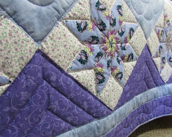 amish quilt stack and whack star quilt star quilt bluepurple quilt