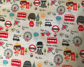 British themed lap blanket personalized