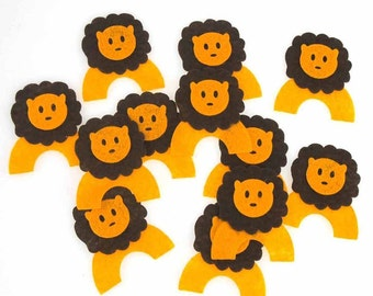 Lion Felt Animals, 2-Inch, 12 Piece