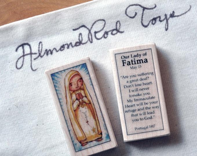 Our Lady of Fatima Patron Saint Block // 100+ Catholic Saints to choose from // Catholic girl //