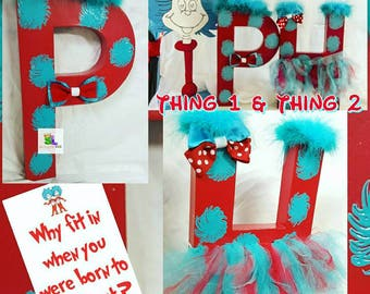 Thing 1 and Thing 2 party Thing 1 and Thing 2 birthday Thing 1 and Thing 2 party ideas Thing 1 and thing 2 party decor Dr. Suess party