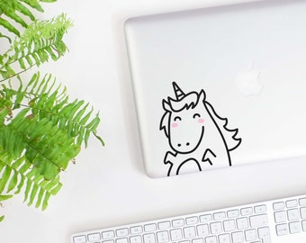 Mini Lola the Unicorn Laptop decal / Vinyl Sticker / Tile Decal / Wall Decal / Office decor