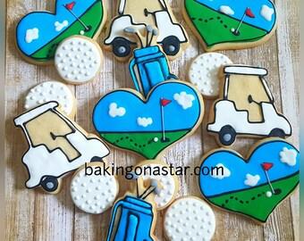 One dozen gourmet sugar cookies :golf