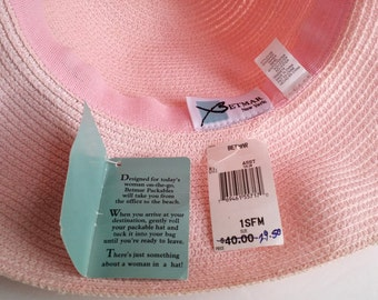 "Beautiful Vintage BETMAR Packables ""1997 Breast Cancer Awareness"" Pink Hat. New! Old Stock"