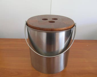 Vintage Arne Jacobsen Stainless Steel Ice Bucket Designed for SAS Hotel in Copenhagen