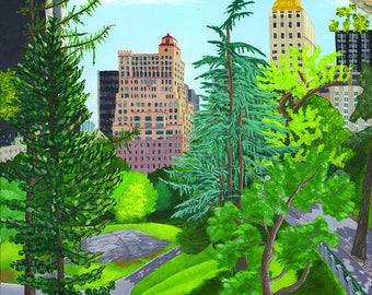 Summer hills - fine art paper