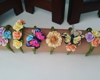 Paper flower headband 6-7 7-8 adjustable for yosd/msd BJDs