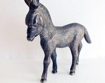 Vintage metal donkey.