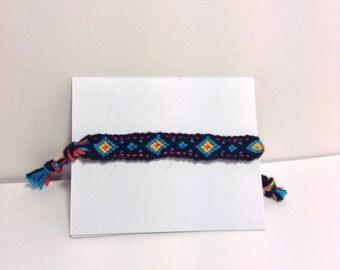 Diamond Pattern Friendship Bracelet