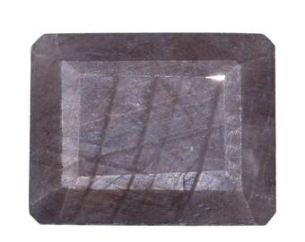 Silver Sapphire Octagon Cut Loose Gemstone 1A Quality 9x7mm TGW 2.30 cts.