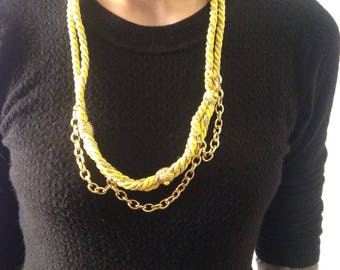 Yellow Gold rope necklace hull