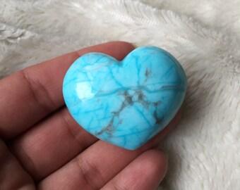 Howlite Puffy Heart, Reiki Infused