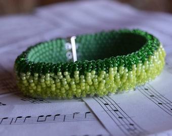 Fading Dark Green Bracelet