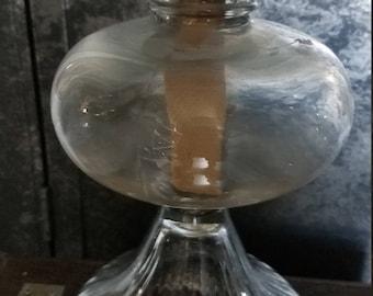 Glass Hurricane Oil Lamp