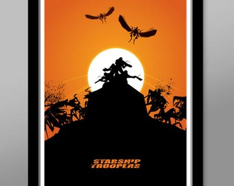 Starship Troopers Inspired - Minimalist Movie Poster - Print 354 - Home Decor