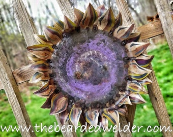 Metal Sunflower Wall Art Wall Decor by #TheBeardedWelder