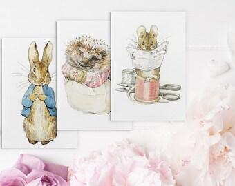beatrix potter, beatrix potter notecards, beatrix potter cards, beatrix potter greeting cards, greeting cards, notecards, peter rabbit card