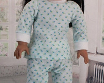 American Girl Doll Flannel Pajamas, Vintage Fabric, 2 Variations
