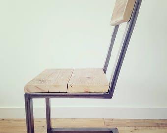 Reclaimed Wood & Steel Chair
